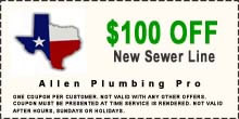 $25 off allen plumber service call coupon
